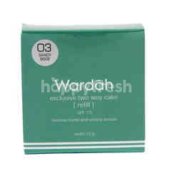 Wardah Exclusive Two Way Cake Shade 03 Sandy Beige Refill