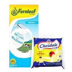 Fonterra Chesdale Cheddar and Fernleaf Low Fat UHT Milk Package
