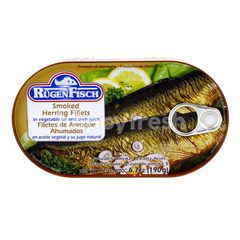 Rugen Fisch Smoked Herring Fillets In Vegetable Oil And Own Juice