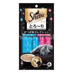 Sheba Melty Cat Treat Katsuo & Katsuo Salmon 48G Cat Snack