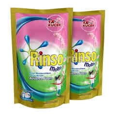 Rinso plus Molto Deterjen Cair Advance Foam Pink 800ml Twinpack