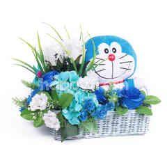 Citra Florist Artificial Basket Doraemon Blue
