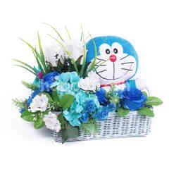 Citra Florist Artificial Basket Doraemon Blue