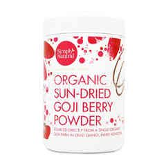 Simply Natural Organic Sun-Dried Goji Berry Powder