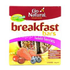Go Natural Breakfast Bars Mixed Berries