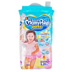 Mamy Poko Pants Extra Dry Skin For Girls L 28 Pcs