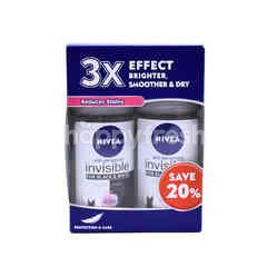 Nivea Anti-Perspirant Invisible For Black & White Roll-On Deodorant (2 Bottles)