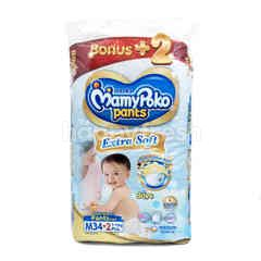 MamyPoko Extra Soft Baby Diaper Pants Size M (34 pieces)