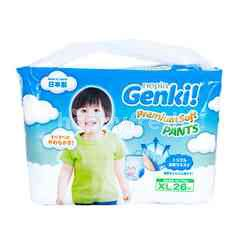 Nepia Genki Premium Soft Baby Pants Diapers Size XL (26 pieces)