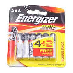 Energizer AAA Alkaline Battery (6 Pieces)