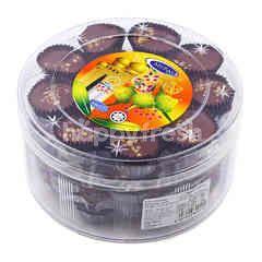 My Rasa Almond London Flavoured Chocolate Butter Cookie (Biskut Mentega Berperisa Coklat Dengan Kacang Tanah)