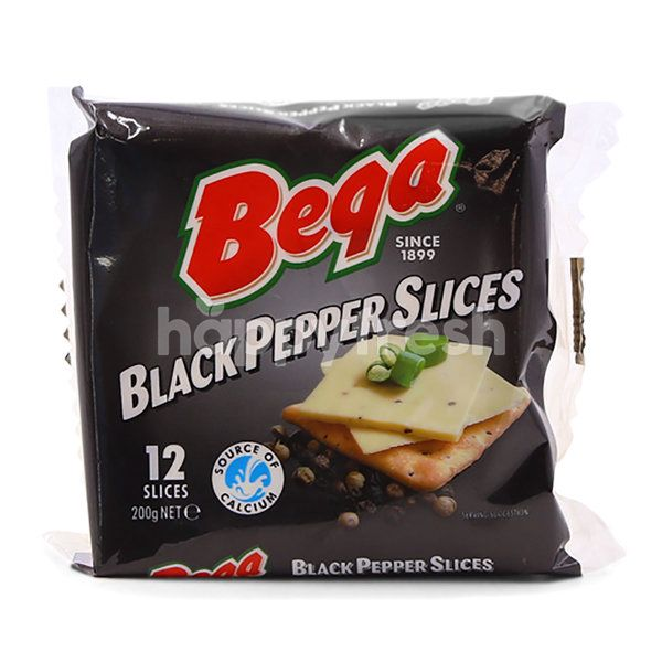 Bega Black Pepper Cheese Slices (12 Pieces)