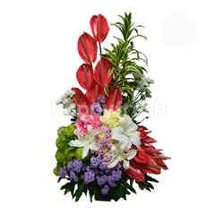 Citra Florist High Style Mix with Lily Table Bouquet