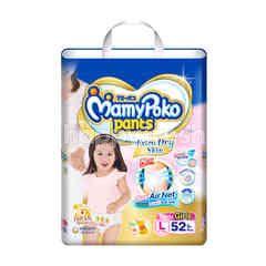 Mamy Poko Pants Extra Dry Skin Girls L 52 Pcs.