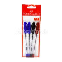 Faber Castell Ball Pen (0.7Mm) Tri-Colour