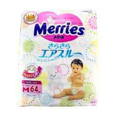 Merries Baby Diapers Tape Size M (64 Pieces)