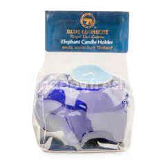 Blue Elephant Elephant Candle Holder