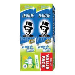 Darlie All Shiny White Fluoride  Lime Mint Value Pack Toothpaste