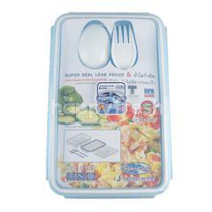 ซุปเปอร์ล็อค กล่องถนอมอาหารป้องกันแบคทีเรีย (สีฟ้า)