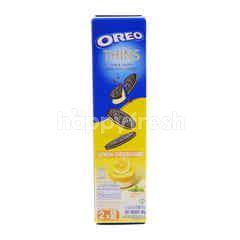 Oreo Lemon Cheesecake Flavoured Thin & Crispy Sandwich Cookies