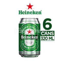 Heineken International Canned Lager Beer 6 Packs