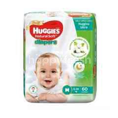 Huggies Natural Soft Diapers M60
