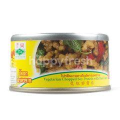 โยตา โปรตีนเกษตรสับผัดกระเพราเจ
