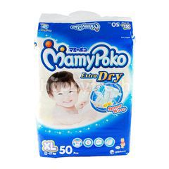 MamyPoko Extra Dry Baby Tape Diapers Size XL (50 pieces)
