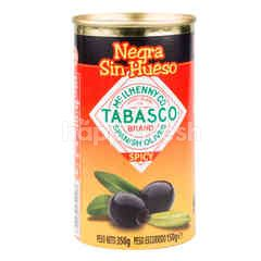 Serpis Pitted Black Olives With Tabasco
