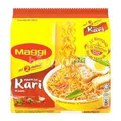 Maggi 2 Minute Curry Instant Noodles (5 + 1 Packets)
