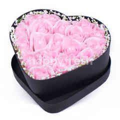 Citra Florist Artificial Flowerbox Love Black