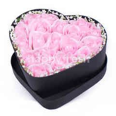 Citra Florist Artificial Flowerbox Love Black