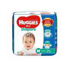 Huggies Baby Dry Diapers M Size (72 Pieces)