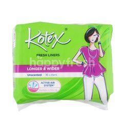 Kotex Longer & Wider Unscented
