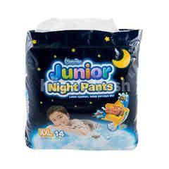 MamyPoko Popok Celana Malam Junior Ukuran XXL untuk Laki-laki dengan Berat 15-25kg