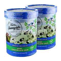 Sunnyside Farms Premium Ice Cream Mint Chocolate Chip Ice Cream 1.65L Twinpack