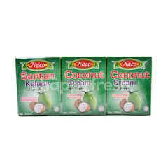 NACO Coconut Cream (3 Boxes)