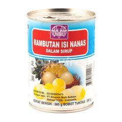 Erawan Pineappale Filled Rambutan in Syrup