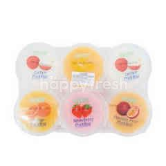 Cocon Mango Lychee Passion Fruit Strawberry Orange Pudding with Nata De Coco