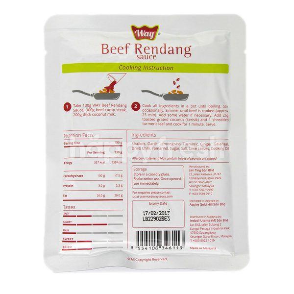 Way Beef Rendang Sauce