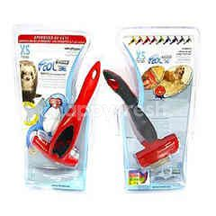 Foolee Desheding Tool (Small Pet-5Kg) (Red) (Extra Small) Edge 3Cm