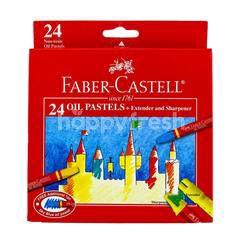 Faber-Castell 24 Oil Pastels + Extender And Sharpener