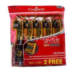 Colgate Slim Soft Gold Charcoal Toothbrush (Buy 3 Get Free 2)