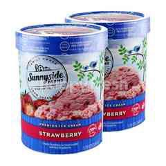 Sunnyside Farms Premium Ice Cream Strawberry 1.65L Twinpack