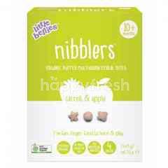 LITTLE BELLIES Organic Nibblers Carrot & Apple Multigrain Cereal Bites 32G(4X8g)