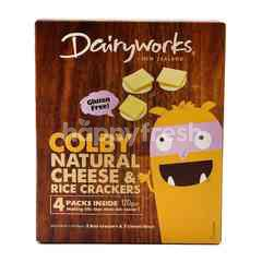 Dairyworks Colby Natural Cheese & Rice Crackers