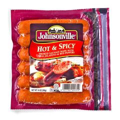 Johnsonville Hot and Spicy Smoke Pork Sausage