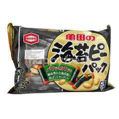 KAMEDA SEIKA Glutinous Rice Crackers Coated with Seaweed Plus Peanut