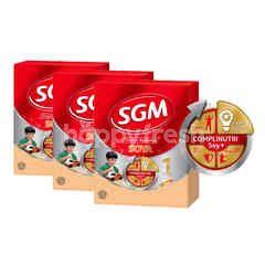 SGM Eksplor Presinutri Soya Susu Kedelai Bubuk Rasa Madu untuk anak Usia 1-5 Tahun Triplepack
