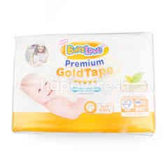 Baby Love Premium Gold Tape Size NB Boys & Girls 84 Pcs.